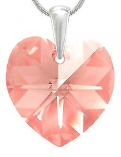 Přivěsek Heart Light Rose Swarovski Elements sw094 striebro 925 0,25g