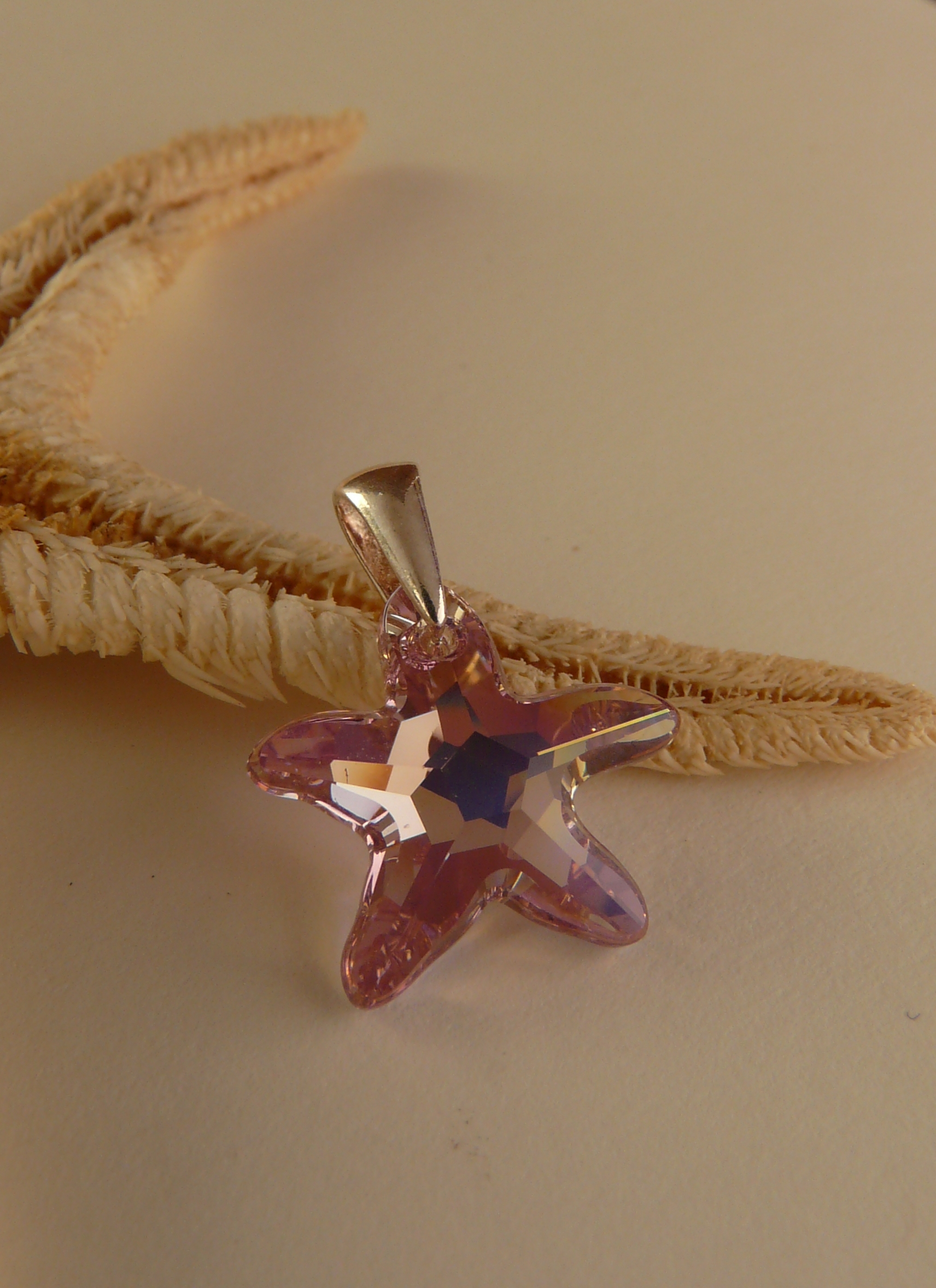 Přivěsek Starfish Light Amethyst Swarovski Elements sw077 striebro 925 0,44g